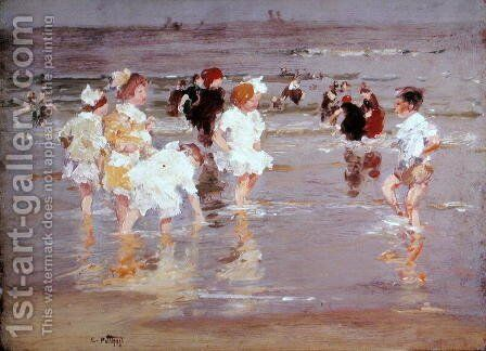 Children on the Beach by Edward Henry Potthast - Reproduction Oil Painting