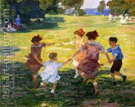 Ring Around the Rosie, 1910-15 by Edward Henry Potthast - Reproduction Oil Painting