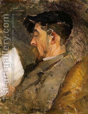 Self-Portrait (c. 1884-1887) by Theodore Robinson - Reproduction Oil Painting