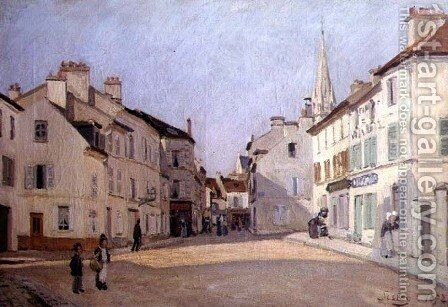 Rue de la Chaussee at Argenteuil, 1872 by Alfred Sisley - Reproduction Oil Painting