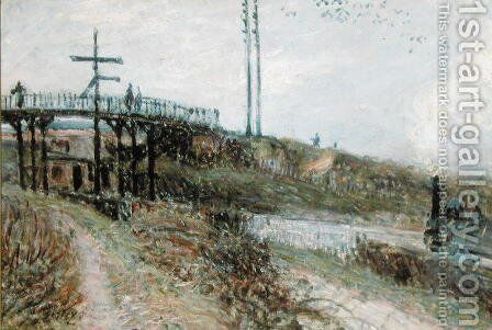 The Footbridge over the Railway at Sevres, c.1879 by Alfred Sisley - Reproduction Oil Painting