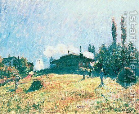 The Station at Sevres by Alfred Sisley - Reproduction Oil Painting