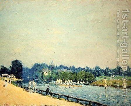 The Road to Hampton Court, 1874 by Alfred Sisley - Reproduction Oil Painting