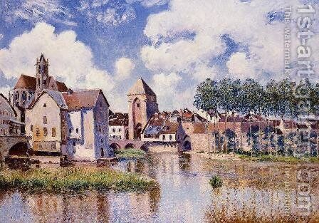 Moret-sur-Loing, the Porte de Bourgogne, 1891 by Alfred Sisley - Reproduction Oil Painting