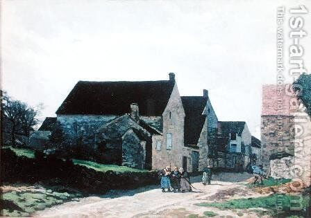 Women going to the Forest, 1866 by Alfred Sisley - Reproduction Oil Painting