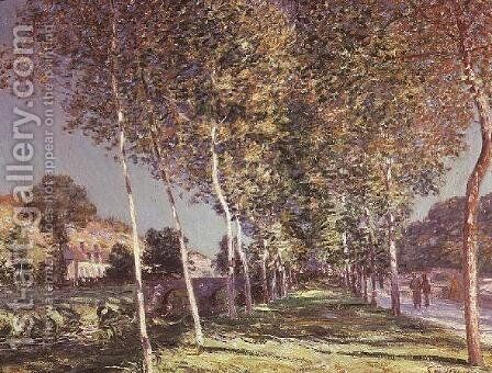 The Walk, 1890 by Alfred Sisley - Reproduction Oil Painting