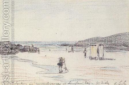 Langland Bay, 1897 by Alfred Sisley - Reproduction Oil Painting