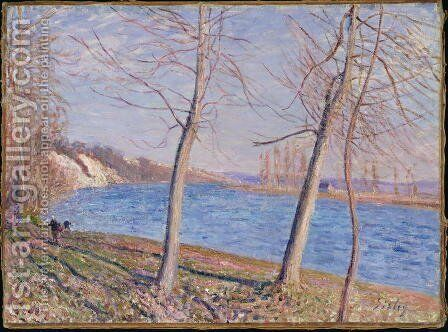 The Banks of the River at Veneux, 1881 by Alfred Sisley - Reproduction Oil Painting