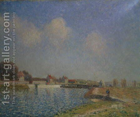 The Loing at Saint-Mammes, 1885 (2) by Alfred Sisley - Reproduction Oil Painting