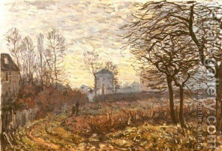 Landscape near Louveciennes, 1873 by Alfred Sisley - Reproduction Oil Painting