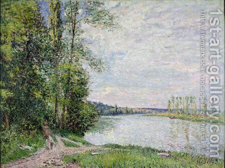 The Riverside Road from Veneux to Thomery, 1880 by Alfred Sisley - Reproduction Oil Painting