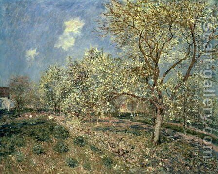 Springtime at Veneux, 1880 by Alfred Sisley - Reproduction Oil Painting