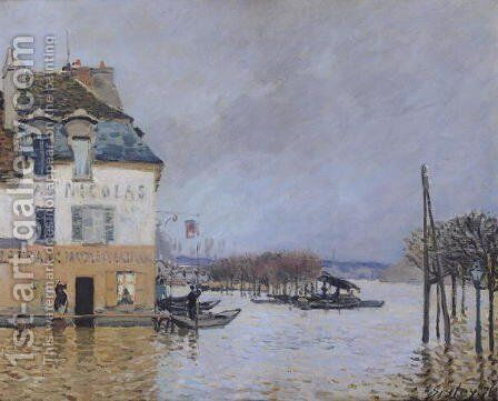 The Flood at Port-Marly, 1876 2 by Alfred Sisley - Reproduction Oil Painting