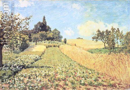 Wheat Field by Alfred Sisley - Reproduction Oil Painting