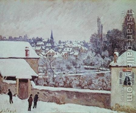 Winter in Louveciennes, 1876 by Alfred Sisley - Reproduction Oil Painting