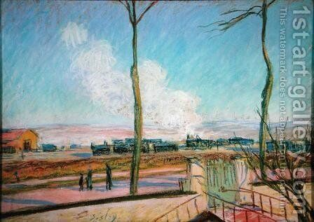 The Goods Station by Alfred Sisley - Reproduction Oil Painting