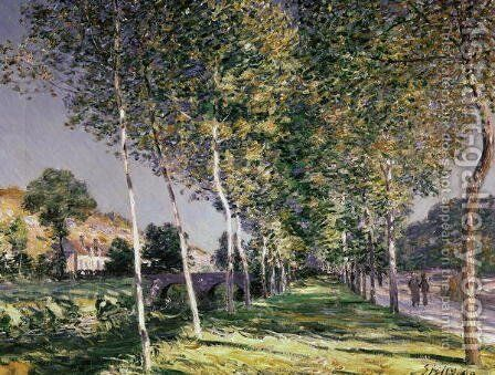 A Road in Louveciennes, 1883 by Alfred Sisley - Reproduction Oil Painting