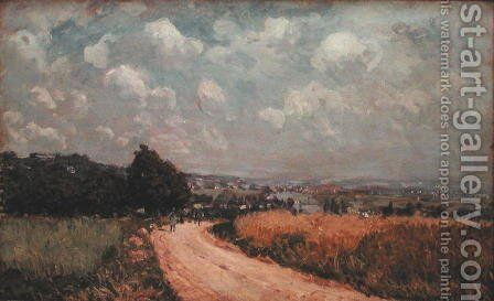 Turning Road or, View of the Seine, 1875 by Alfred Sisley - Reproduction Oil Painting