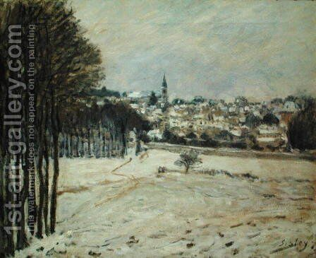 The Snow at Marly-le-Roi, 1875 by Alfred Sisley - Reproduction Oil Painting