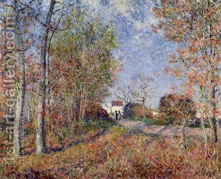 A Corner of the Woods at Sablons, 1883 by Alfred Sisley - Reproduction Oil Painting