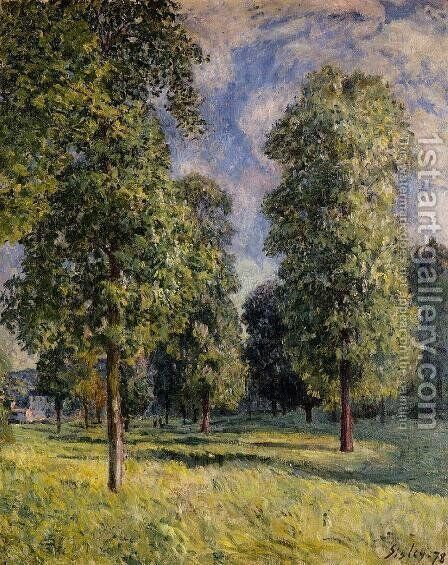 Landscape at Sevres, 1878 by Alfred Sisley - Reproduction Oil Painting