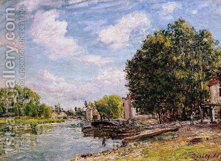 Moret-sur-Loing, 1885 by Alfred Sisley - Reproduction Oil Painting