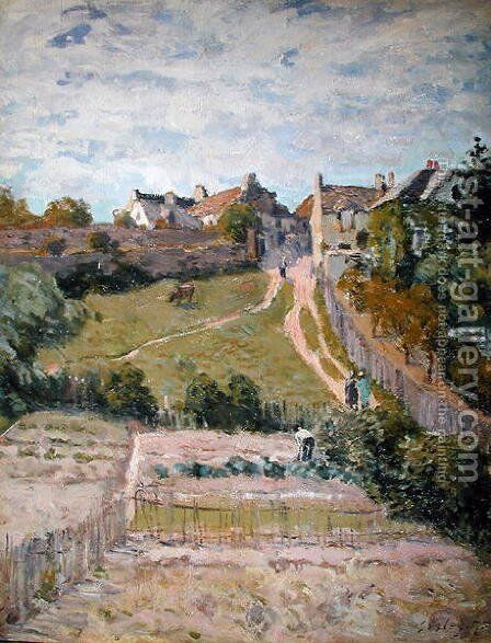 The Climbing Path, 1875 by Alfred Sisley - Reproduction Oil Painting
