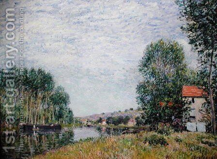 The Banks of the Loing at Moret, 1886 by Alfred Sisley - Reproduction Oil Painting