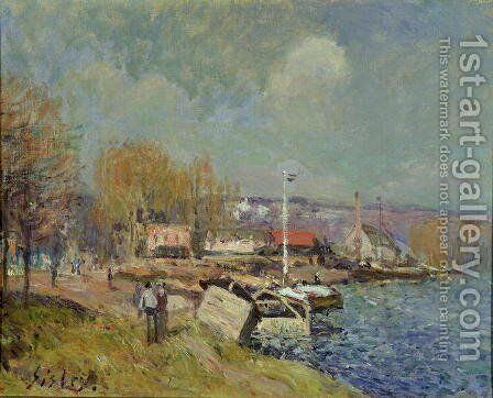 The Seine at Port-Marly, 1877 by Alfred Sisley - Reproduction Oil Painting