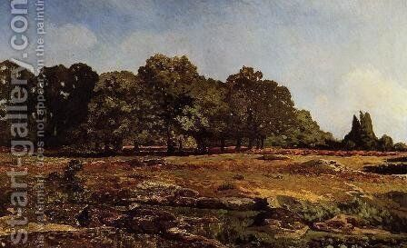Avenue of Chestnut Trees at La Celle-Saint-Cloud, c.1866-67 by Alfred Sisley - Reproduction Oil Painting