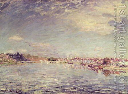 Saint-Mammes, 1885 by Alfred Sisley - Reproduction Oil Painting