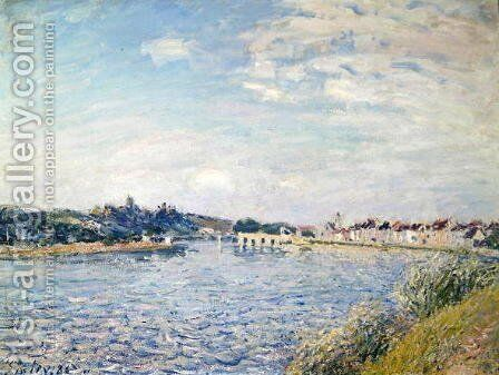 Landscape, 1888 by Alfred Sisley - Reproduction Oil Painting