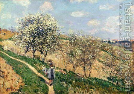 Springtime at Bougival by Alfred Sisley - Reproduction Oil Painting