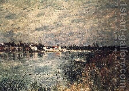 The River Banks at Saint-Mammes 2 by Alfred Sisley - Reproduction Oil Painting