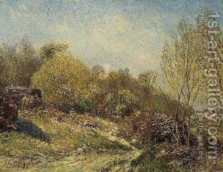 Landscape by Alfred Sisley - Reproduction Oil Painting