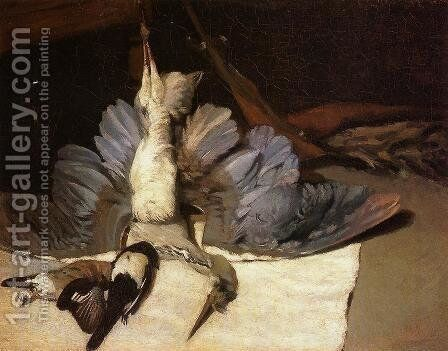 Still-Life: Heron with Spread Wings, 1867 by Alfred Sisley - Reproduction Oil Painting