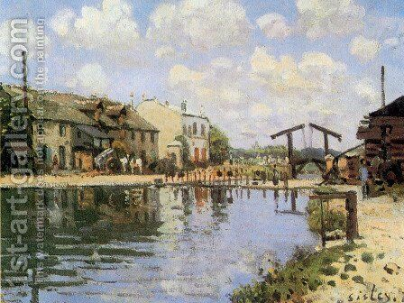 The Canal Saint-Martin, Paris, 1872 by Alfred Sisley - Reproduction Oil Painting