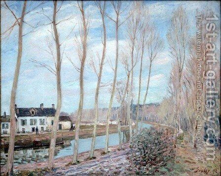 The Loing Canal, 1892 by Alfred Sisley - Reproduction Oil Painting