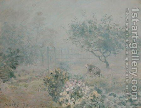 The Fog, Voisins, 1874 by Alfred Sisley - Reproduction Oil Painting