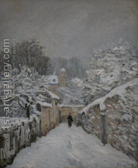 Snow at Louveciennes, 1878 by Alfred Sisley - Reproduction Oil Painting