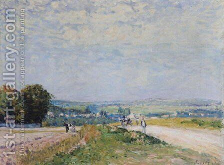 The Road to Montbuisson at Louveciennes, 1875 by Alfred Sisley - Reproduction Oil Painting
