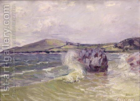 Lady's Cove, Wales, 1897 by Alfred Sisley - Reproduction Oil Painting