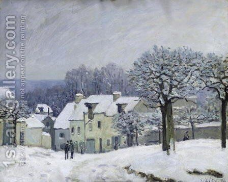 The Place du Chenil at Marly-le-Roi, Snow, 1876 by Alfred Sisley - Reproduction Oil Painting