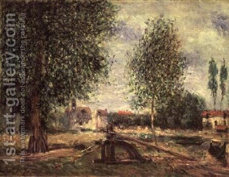 Landscape at Moret-sur-Loing by Alfred Sisley - Reproduction Oil Painting