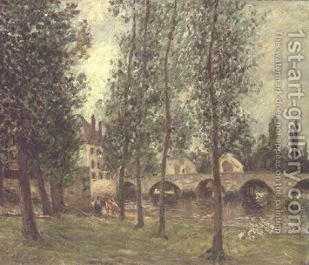 The Bridge at Moret, 1888 by Alfred Sisley - Reproduction Oil Painting