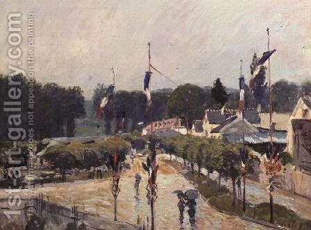 Fourteenth of July at Marly-le-Roi, 1875 by Alfred Sisley - Reproduction Oil Painting