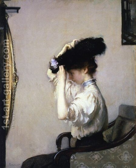 Preparing for the Matinee, 1907 by Edmund Charles Tarbell - Reproduction Oil Painting