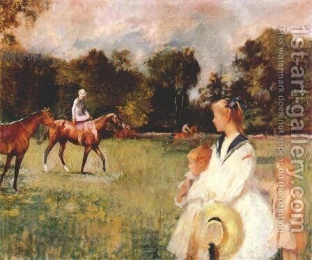 Schooling the Horses, 1902 by Edmund Charles Tarbell - Reproduction Oil Painting