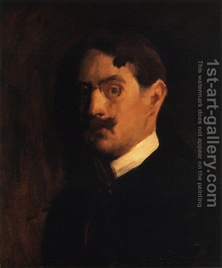 Self Portrait, c.1895 by Edmund Charles Tarbell - Reproduction Oil Painting