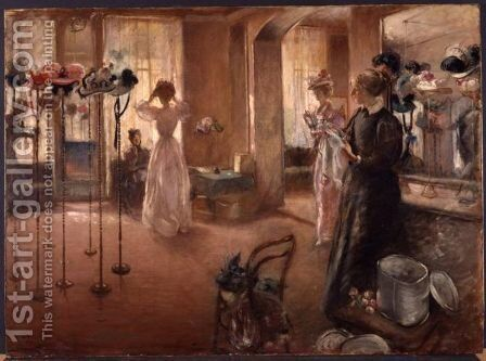 The Hat Shop (1892) by Henry Tonks - Reproduction Oil Painting